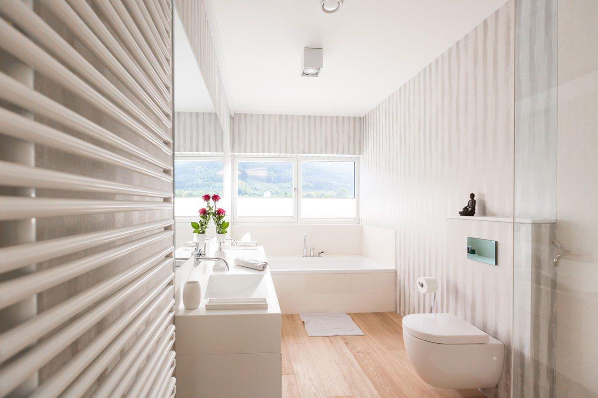 Badezimmer - Design Ferienhaus Bauhausvilla Kärnten, Spittal/Millstätter See
