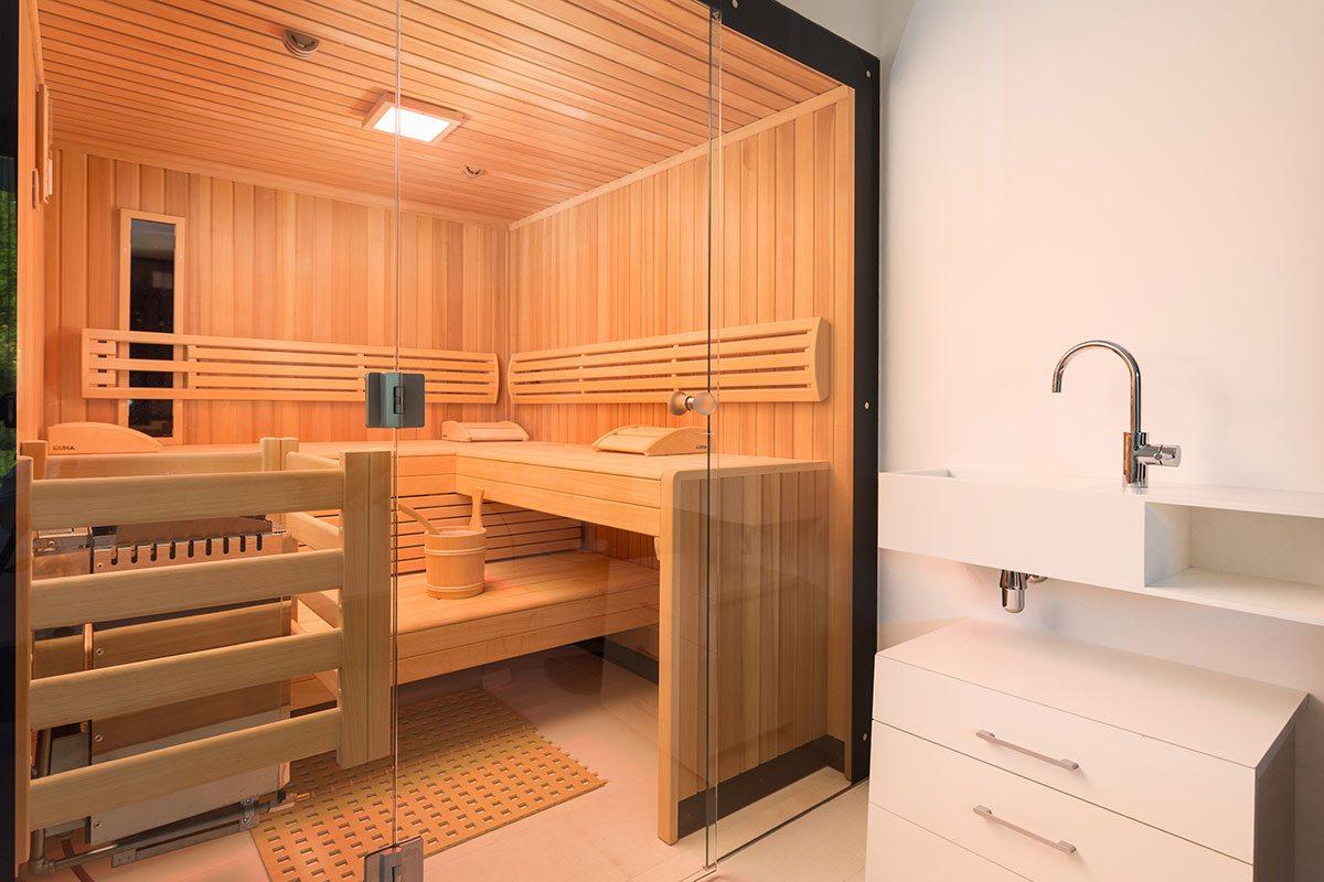Sauna - Design Ferienhaus Bauhausvilla Kärnten, Spittal/Millstätter See