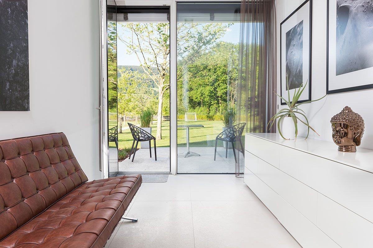 Wohnbereich - Design Ferienhaus Bauhausvilla Kärnten, Spittal/Millstätter See