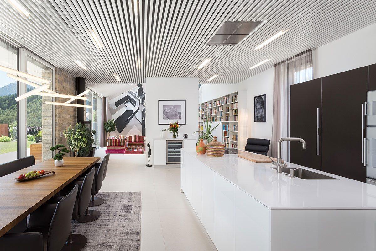 Wohn-Essbereich - Design Ferienhaus Bauhausvilla Kärnten, Spittal/Millstätter See